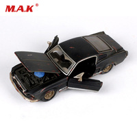 Collectible Kid Car Model Toys 1/24 Scale Old Version 1967 Mustang Diecast Model Car Toys for Children Gift