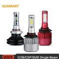 Auxmart 9005/HB3 COBCOB/CSP/SMD LED Фары Автомобиля Лампы Один луч 8000/9600LM Дальнего Света все-в-Одном Противотуманные фары 12 В 24 В