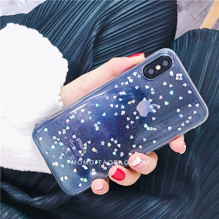 HTB1w4F6XLNNTKJjSspeq6ySwpXaQ - GIMFUN Star Bling Glitter Phone Case for Iphone 11 Pro Max Clear Back Love Heart tpu Case Cover for Iphone Xr X 7 6 8 Plus 5s SE