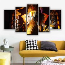 Ganesha Poster 5 Pieces Elephant Ganesh Indian Religious Lord Balaji Canvas Painting Wall Art Picture Home Decoration