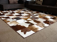 2x2m/6.5 x 6.5ft Patchwork Cowhide Design Top Quality Rug North Europe Style Rugs And Carpets