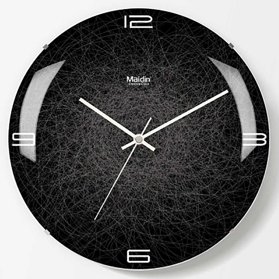 Art Black Living Room Wall Clock Lcd Creative Silent Large Digital Wall  Clock Modern Design Best Selling 2018 Products 50A0169