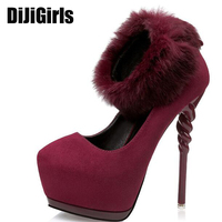 Red Wedding Shoes Sexy High Heels Shoes Woman Pumps Platform Heels Pumps Party Shoes Women Pumps