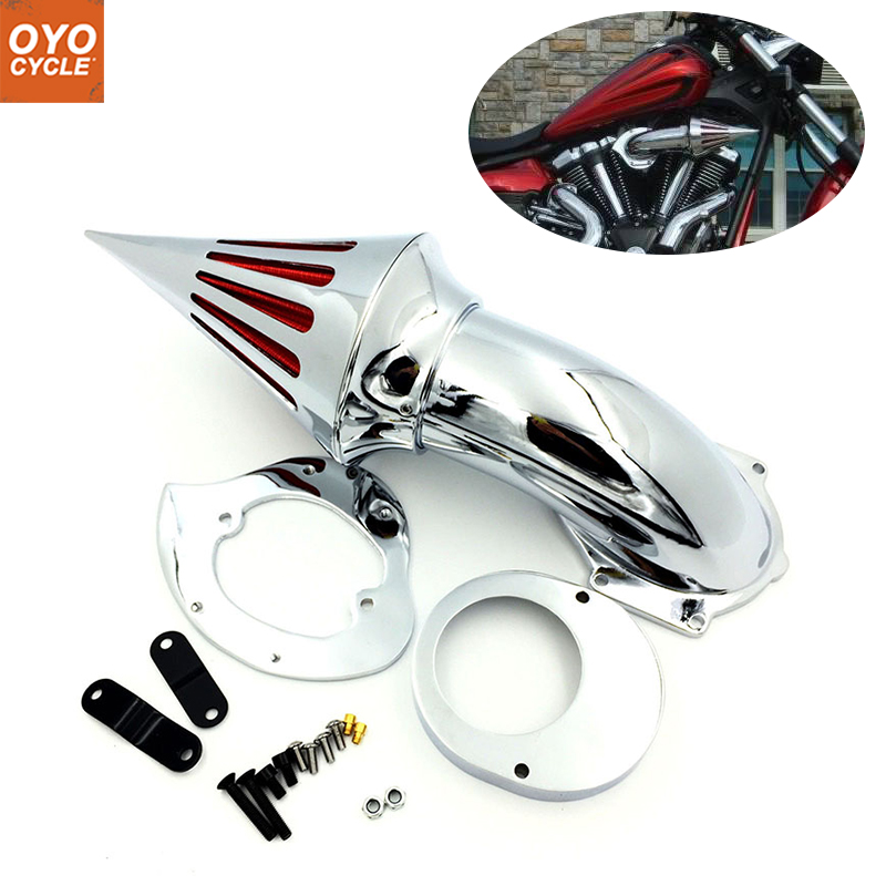 For 99 12 Honda Shadow 600 VLX 600 Spike Cone Motorcycle Air Cleaner Intake Filters Kit Accessories 1999 2000 2001 2002 2012