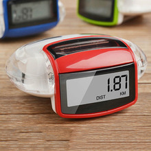 New hot Red Camtoa Solar Energy Running Pedometer Odometer Calorie Meter Sport Step Counter Fitness Caculator For Body Building