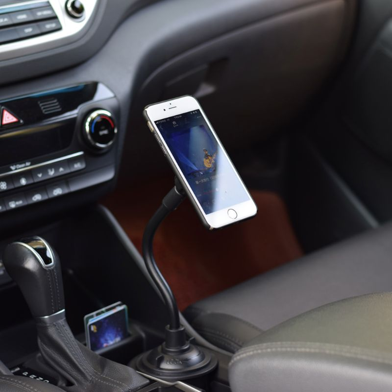 Car Cup Holder Magnetic Cup Stand Phone Cradle Mount for iPhone Samsung Huawei Xiaomi 3 to 6.8 inch Smartphone image
