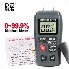 RZ измеритель влажности древесины портативный цифровой измеритель влажности гигрометр 0 ~ 99.9% MT10 деревянный измеритель влажности