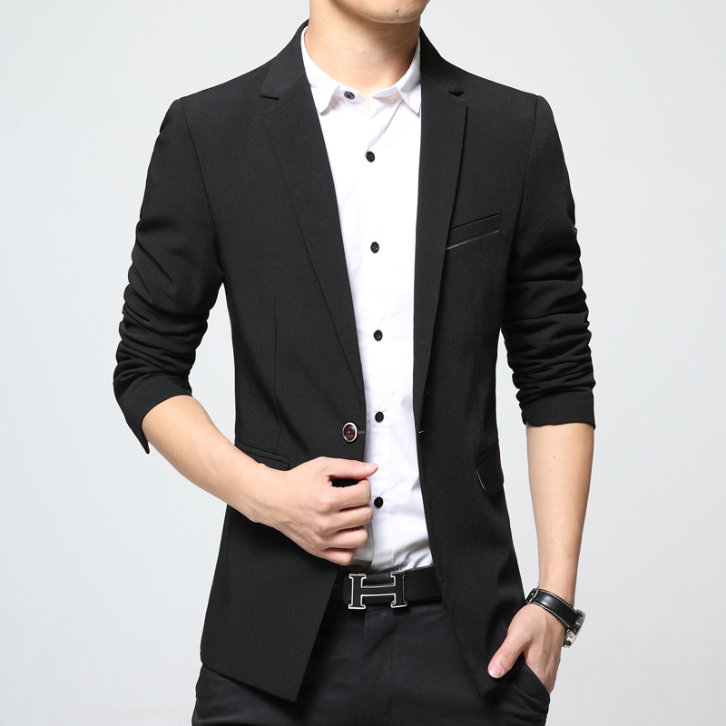 43003f72bf444 2018 New Arrivals Mens Smart Casual Blazers Suit Male Fashion Slim fit  Single button Cotton Jackets Korea Plus size 4XL 5XL 6XL-in Blazers from  Men s ...