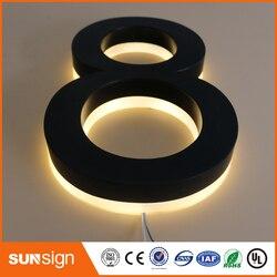 Commercio all'ingrosso pubblicità esterna 3D lettere In acciaio Inox retroilluminato led lettera segnaletica segni