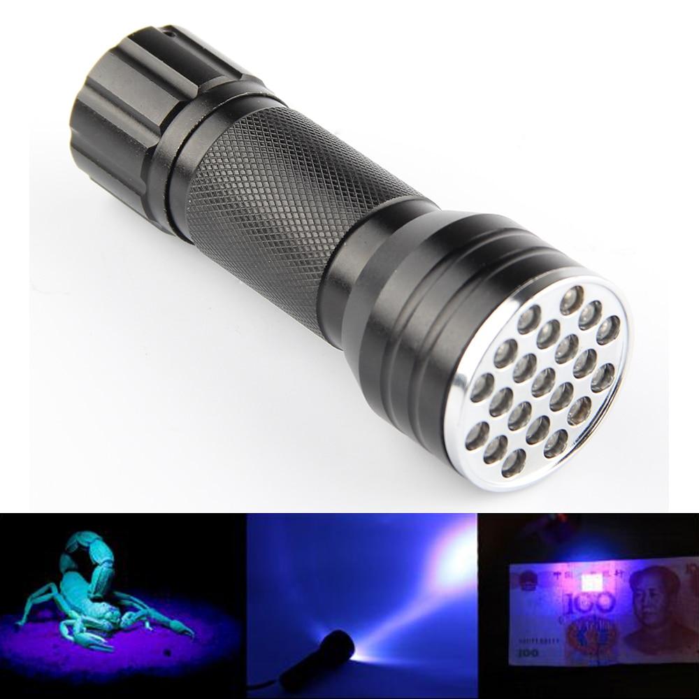 Blacklight Invisible Tinte Marker 21 LED UV Ultra Violet Taschenlampe leuchtet