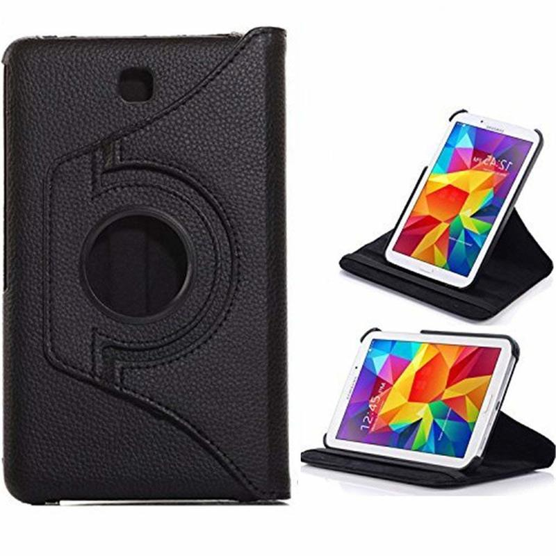 360 Degree Rotating PU Leather Flip Cover Case For Samsung Galaxy Tab 4 8.0 SM-T330 T331 T335 Tab4 8inchTablet Case Screen Glass