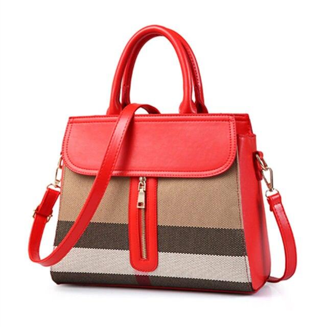 Luxury Elegant Handbags Women Bags Designer Linen Pu Leather Shoulder Bag Female Tote Crossbody For