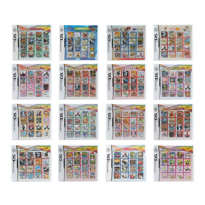 Tarjeta de cartucho de videojuegos para DS 3DS consola de juegos todo en 1 compilaciones Super Combo Multi Cart