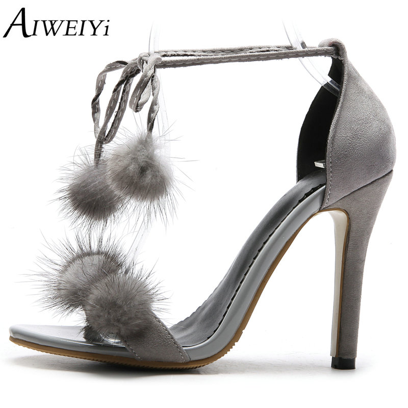 AIWEIYi New Summer Women High Heels Sandals Shoes Woman Party Wedding Ladies Pumps Lace Up Stiletto High Heels Sexy Shoes new 2017 sexy point toe patent leahter high heels pumps shoes sandals pr1987 woman s red sandals heels shoes wedding shoes
