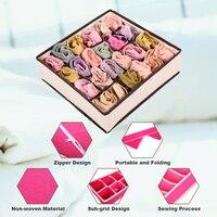 Pieghevole Divisori Storage Box Reggiseno 4 pz/set tessuto Non tessuto Pieghevole Casi Calze Cravatta Abbigliamento Intimo Organizer Contenitore