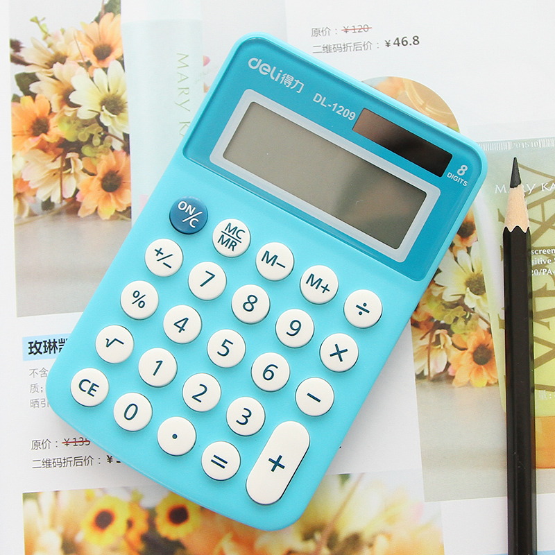 Colorful bright hot sale mini office school students 8 digits learning Calculator Soft keyboard Creative Magnetic