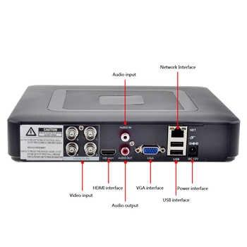 GADINAN Mini Hybrid 4CH AHDNH 1080N DVR 5 IN 1 AHDM TVI CVI CVBS 960H Security CCTV DVR HDMI DVR NVR Support 1080P IP Camera