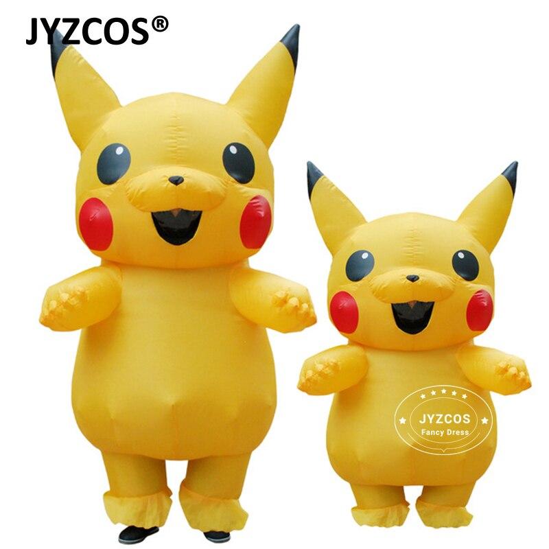 JYZCOS надувные Пикачу костюмы Косплэй карнавал Pokemon костюмы на Хэллоуин для детей взрослых Для мужчин Для женщин девочек талисман