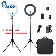 Pixco 18-Inch Photo Studio 480PCS Bulbs LED Ring Light Bi-color 3200-6000k For Camera Photo/Studio/Phone/Video Lamp