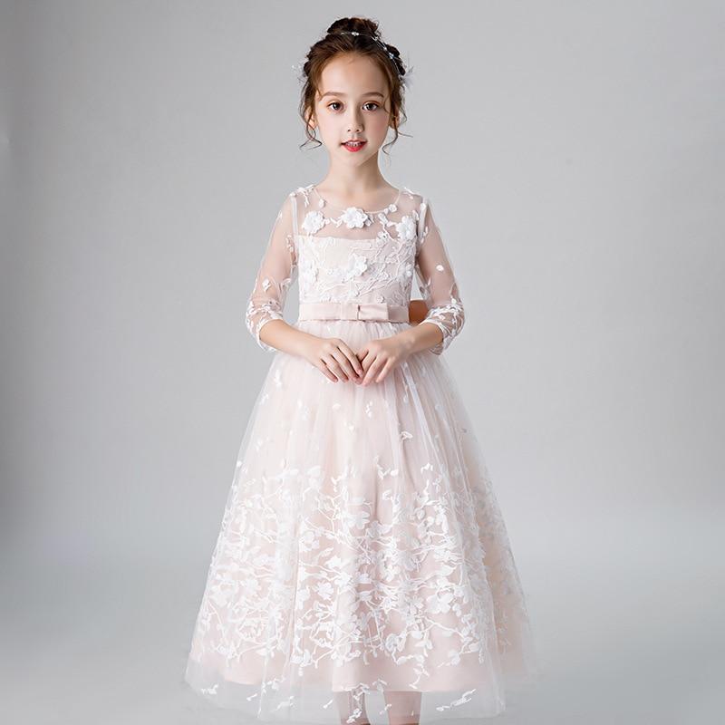 Boutique fille robe de princesse modérateur robe de soirée Piano Costume filles robe de fête de noël élégant enfants robes pour les filles - 2
