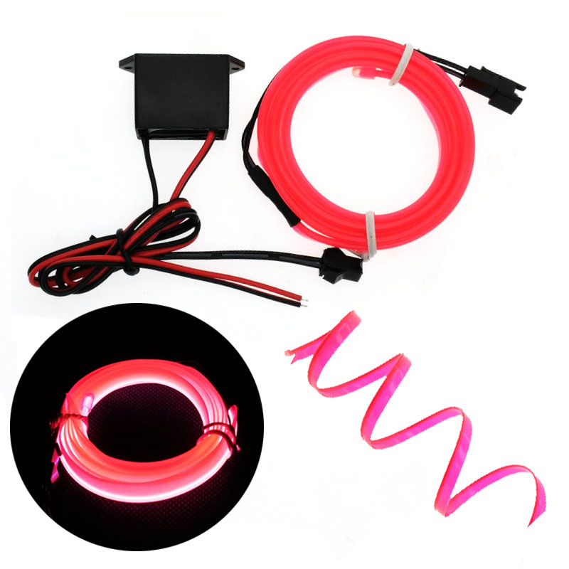 EL Wire 6mm Sewing Edge Neon Car Lights Dance Party Car Decor Light Flexible EL Wire Lamps Rope Tube LED Strip