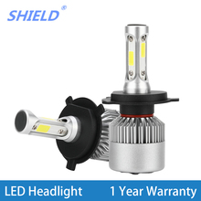 2 Pcs H4 H7 Led Car Headlight Bulbs LED H11 H27 H1 H3 9005 HB3 9006 HB4 12V 24V 72W 8000LM 6500K Fog Light Auto Headlamp Lamps oslamp cree smd chips h7 led h4 headlight 6500k bright automobile 9005 9006 front car bulbs h11 led fog lamps hb3 hb4 all in one