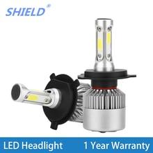 2 Pcs H4 H7 Led Car Headlight Bulbs LED H11 H27 H1 H3 9005 HB3 9006 HB4 12V 24V 72W 8000LM 6500K Fog Light Auto Headlamp Lamps цена