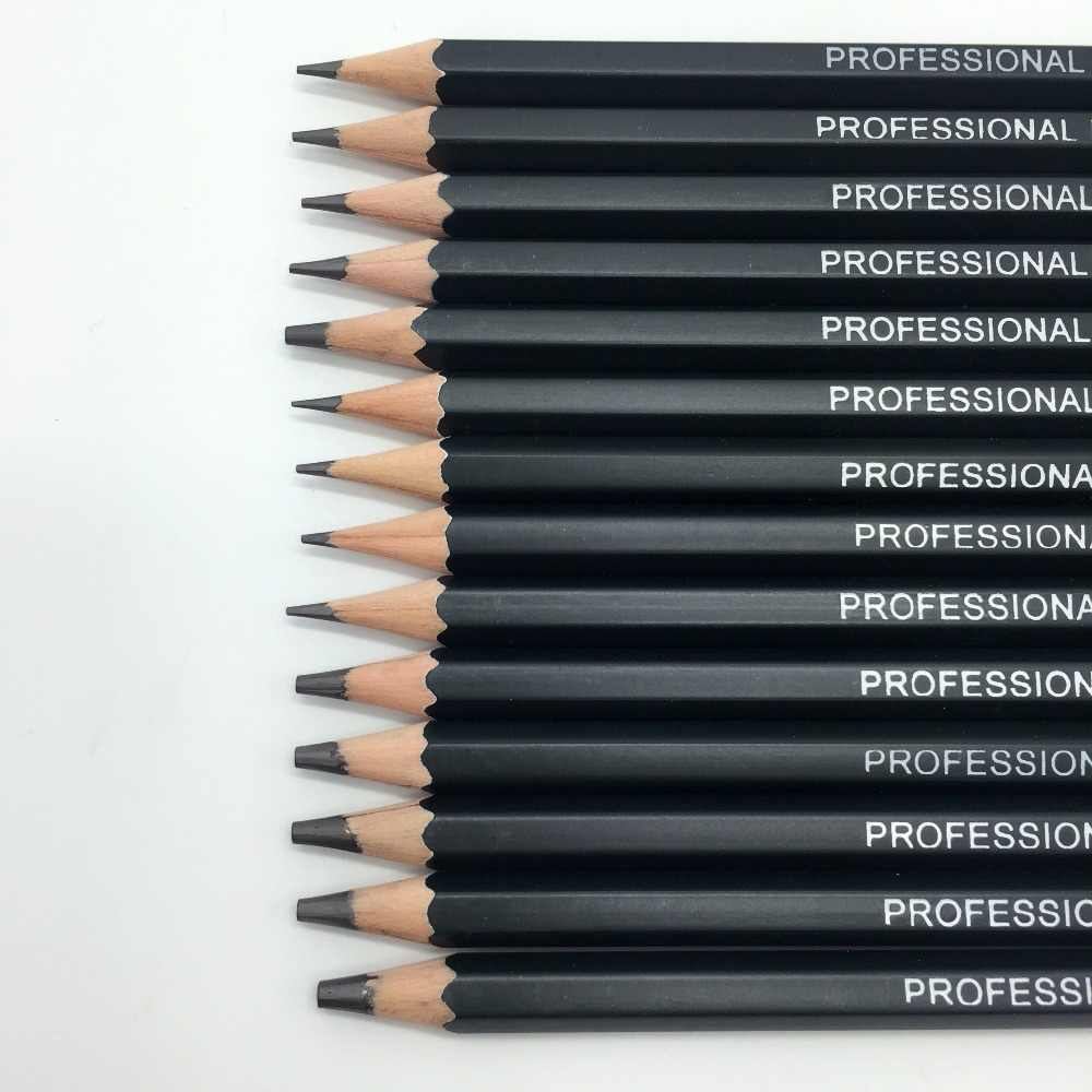 14pcs set sketch and drawing pencil set 12b 10b 8b 7b 6b 5b 4b 3b