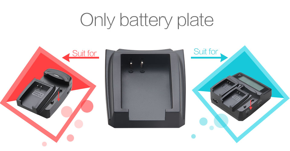 LVSUN NP-95 NP95 NP 95 Rechargeable Battery Adapter Plate Case for Fujifilm Fuji F30 3D W1 X-S1 X100 A12 Batteries Charger