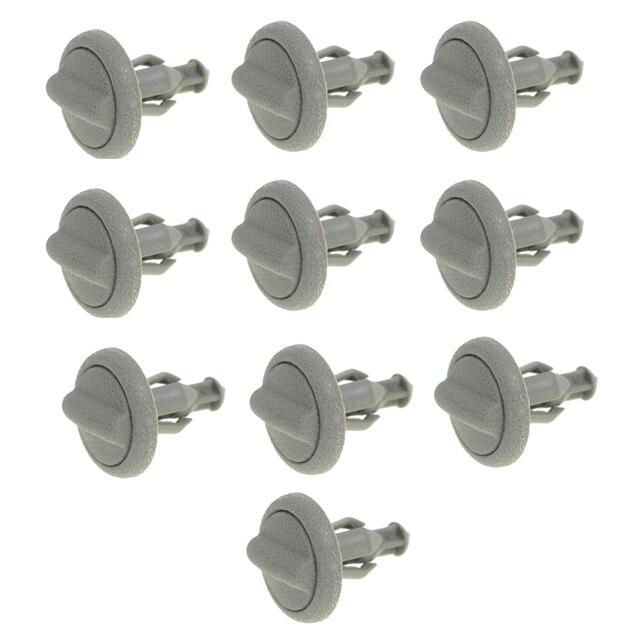 10 PZ Grigio Plastica Cappelliera Clip Tipo Precoce Fine Per Nissan Juke  799161KA3A 84a5aa94015f