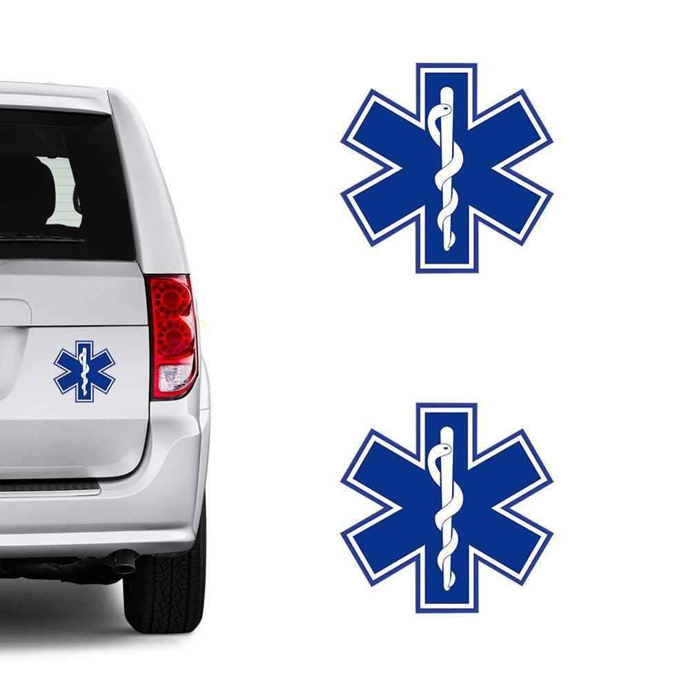 12CM*12CM Amusing STAR OF LIFE Car Sticker Reflective The Tail Of The Car Decal C1-7552 4.7