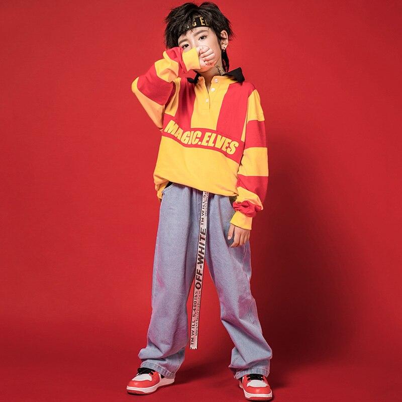 Hip Hop Clothes Boys Costume Dance Loose Suit For Street Breaking Dance Performance Children Stage Hip Hop Dance Wear  BL1931