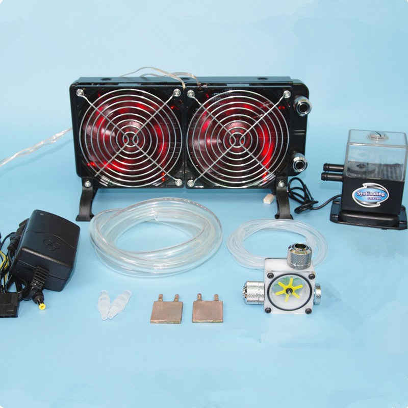 CPU del computer portatile GPU acqua di raffreddamento a liquido di raffreddamento In Rame Dissipare Il calore Del Radiatore Pompe ad acqua + acqua serbatoi + kit dissipatore di Calore sistema