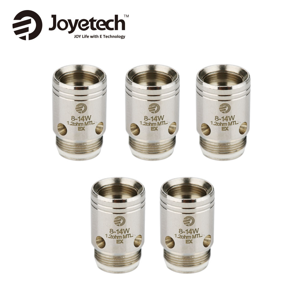 цена на Original 5pcs Joyetech EX Coil Head for Exceed Series Atomizers 1.2ohm Coil & 0.5ohm Coil Pare Part for Exceed Tank Vape Coil