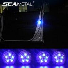 Светодиодный украшение автомобиля лампы Auto двери светодиодный Аварийные огни универсальный для безопасности сигнальные лампы автомобилей анти Collid Беспроводной свет