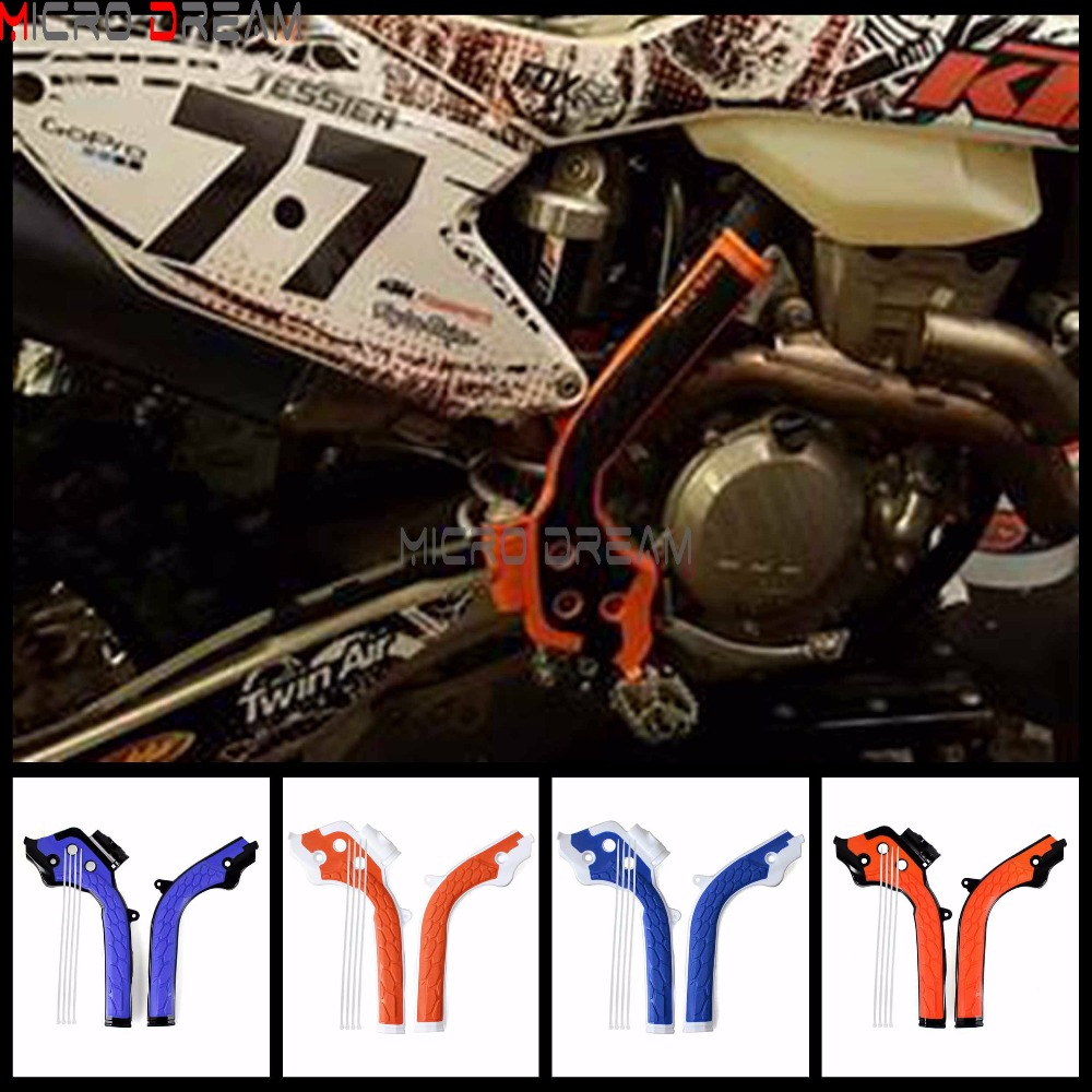 2x Motocross X-Grips Frame Guards Dirt Bike Frameguard For KTM SX/EXC/SXF/EXCF Husqvarna TE/FE/FC/TC  125/250/300/350/450/500