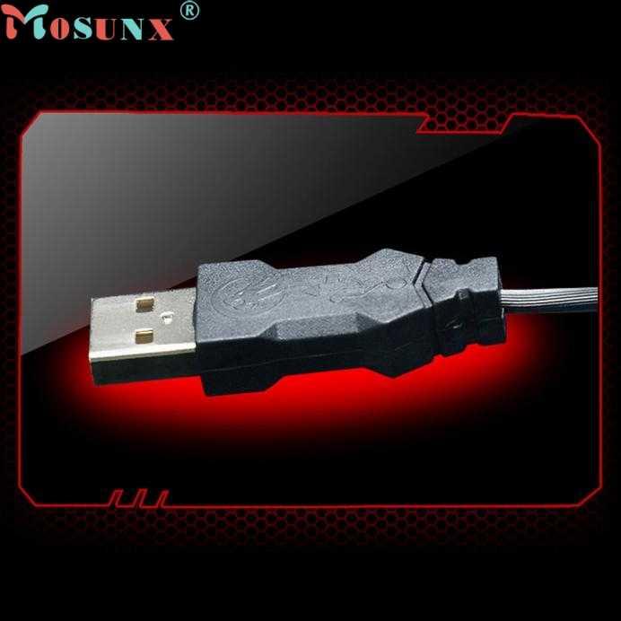 Mosunx Simplestone 2400 Dpi USB Kabel Optik Gaming Game Mouse Mouse untuk PC Laptop 0120
