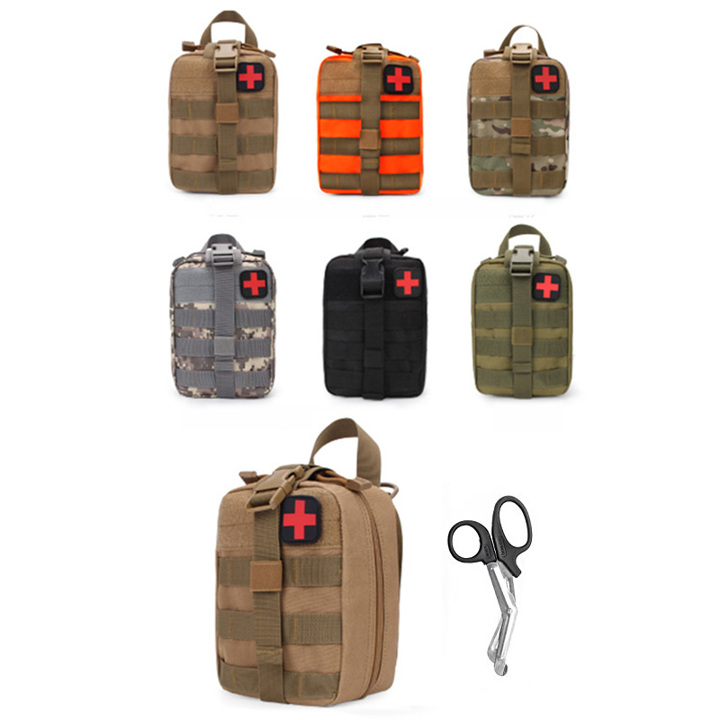 Empty Fisrt Aid Bag Camping Car Survival Emergency Kits Tactical Travel Medical Bag Self Defense Military First Aid Kit Outdoor цена и фото