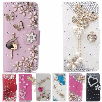 Flip Magnetic case cover For ZTE A610 ,Diamond Leather Luxury Rhinestone Case For girlfriend,Girl,Lady