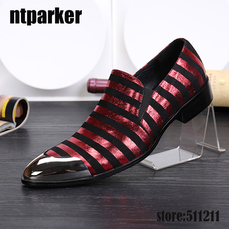 ntparker New Korean Version Fashion pointed leather Mens shoes Business Leather Dress Shoes Pointed Metal Toe, EU38-46! 2018the new women s patent leather and shoes classic korean version of the classic korean shoes red wedding shoes