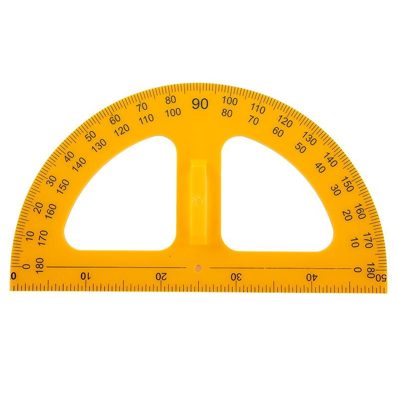 50 Width Protractor Compass For Math Teacher Plastic Protractors School & Educational Supplies Drafting Supplies