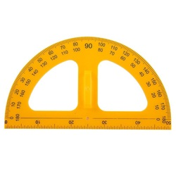 50 Width Protractor Compass for Math Teacher Plastic Protractors School & Educational Supplies Drafting Supplies