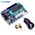 1Set USB PIC Development Board PIC16F877A 12V DC Minimum System Microcontroller Module MAX3232 ISP IO JTAG ICSP Program Emulator