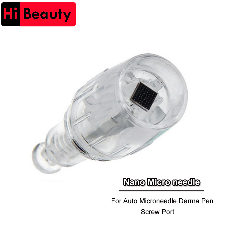 50PCS lot Electric Derma Pen Needles 10mm Screw 3D Nano Needle Cartridge For Tattoo Body Art