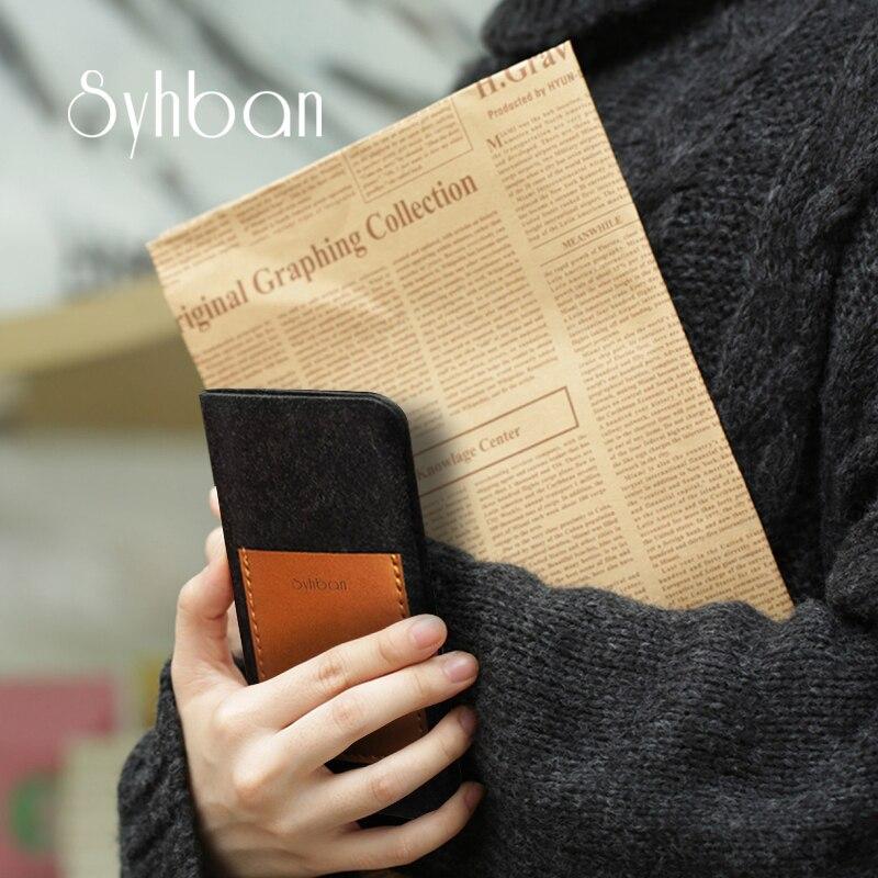 imágenes para Fieltro de Lana hecho a mano de la Carpeta Para iphone6 7/6 S 7 Más El Enchufe en el caso auricular Tamaños Personalizados para Samsung S8/S8Plus teléfono móvil caso