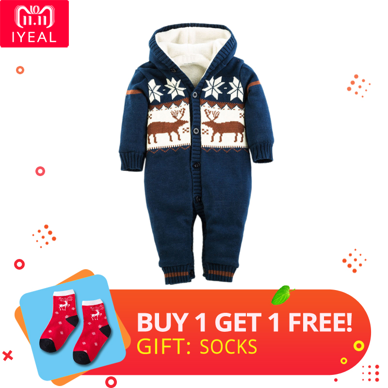 102a72b2c7e4 Wholesale Infant Winter Cotton Thick Christmas Baby Rompers Newborn ...
