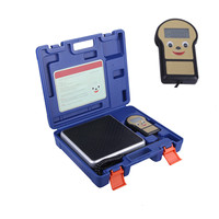 0.01lb/100kg Electronic Digital HVAC A/C Refrigerant Freon Charging Weight Scale with Case Measuring Tools Instrument bascula co