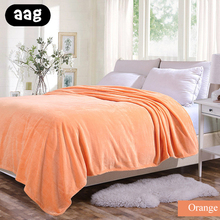 Home Textile Blanket Solid Sofa Bedding Flannel Air conditioning Winter Warm Soft Bed sheet travel bed coverlet
