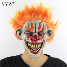 New Festival Horror Scary Clown Masks Halloween Party Cosplay Masker Props Fire Hair Zombie Adult Latex Mask Mascaras