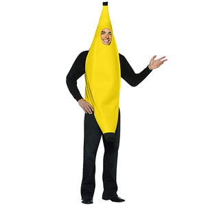 Novelty Men Women Adult Carnival Funny Character Party Bar Stage Banana Costume Dance Suit Top Fantasia Clothing Props #40(China)